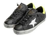 craft shoes - LZXX Sneaker leather sports brand golden goose Italy craft men women shoe hiphop Cow suede black G27U590_Z7 EUR