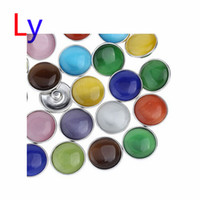 asian eye glasses - DIY Mix Styles Snaps Cat s Eye mm Glass Snap Button Fit Ginger Snap Button Charm Bracelet Jewelry AC098