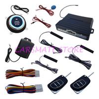auto door sensor switch - Intelligent Car PKE Alarm System Remote Engine Start Push Button Start Auto Lock Unlock Car Door With Shock Sensor Reset Switch