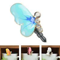 b moblie - 2015 Butterfly Shape Earphone Dust Plug Dust Proof Jack Plug For Moblie Phone Hot B CA1117 A5
