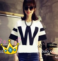 baseball catch - Eye catching Big W letters Baseball uniform casual women t shirt Exclusive custom W stereo letters Space cotton Diving fabrics