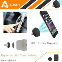 Wholesale AUKEY Degree Universal Car Holder Magnetic Air Vent Mount Smartphone Dock Mobile Phone Holder for iPhone S Samsung S6 HTC