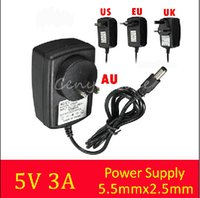 Wholesale Best Price UK US EU Plug Universal AC Adapter Replacement for DC V A Charger Power Supply for LED strip Switches Audio Video