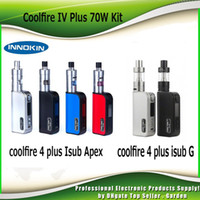 Single apex silver - 100 Authentic Innokin CoolFire IV Plus W with iSub G Tank or genuine iSub A Apex Tank starter Kit mah Cool fire Plus