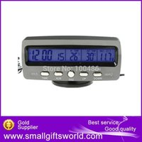 Wholesale Auto Digital LCD Display Car Thermometer Voltage with Ice Alert