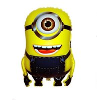 Wholesale 2014 New Cartoon Balloons Arrive Despicable Me Minions Foil Helium Balloons Cartoon Balloon For Kid Gift BL4013
