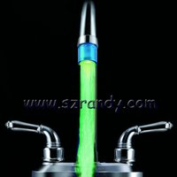 bathroom faucet aerator - 2015 retail fashion cute Change Changing Glow LED Light Water Stream Faucet Tap for Bathroom Kitchen aerator