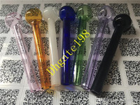glass tube - mixed colorful Pyrex Glass oil burner pipe clear glass oil burner glass tube glass pipe oil nail