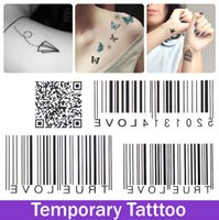 bar code products - Sex Products Temporary Tattoo Tatoo For Man Woman Waterproof Stickers makeup maquiagem make up Bar Code QR code Tattoo