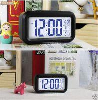 Wholesale 2014 Digital LCD Screen Mini Desktop LED Projector Alarm Clock Multi function with Snooze Blue Backlight Calendar