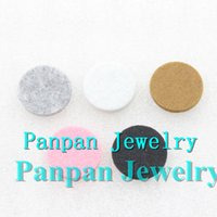 Wholesale Colorful MM Felt Pads for mm Essential Oil Diffusing Perfume Locket Pendant memory Locket