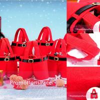 Wholesale Christmas Decorations BO6971 Hot Santa pants style Christmas candy gift bag Xmas Bag Gift Cheap Top Selling Bag