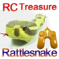 Wholesale RC Rattlesnake Remote Control Rattlesnake children toy AAA V Batteried Operated The RC Radio remote control rattlesnake toy