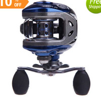 Wholesale NEW BB Ball Bearings Right Hand Baitcasting Fishing Reel Abu Garcia High Speed Carretilha Pesca Blue Black