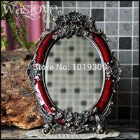 Wholesale Retro European table mirror metal single lovely princess mirror desktop wedding gift