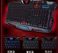 Wholesale New HK M200 tri color backlit keyboard keys feel no rush mechanical gaming keyboard
