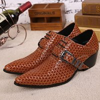 new style man dress shoes - Fashion New Style Buckle Designer Dancing Shoes Men Wedding Shoes Flats Mens Dress Shoes Genuine Leather