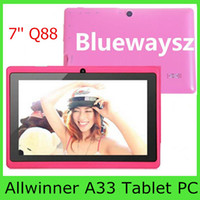 camera mini tablet pc - 7 Inch Android Allwinner A33 Tablet PC Dual Camera Quad Core GB MB Youtube Skype Play Store Cheap Tablets inch Kids Pad Mini PC Q88