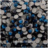 Wholesale 1440pcs Glue Base Flatback Montana Strass Preciosa Hotfix Rhinestones SS16 Iron on