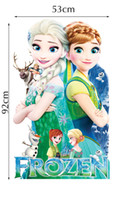 bathroom wall art and decor - 3D Frozen Fever Style Wall Stickers Anna and Elsa Princess Decal Christmas Party Decoration Wall Paper Kids Rooms Decor Arts Stickers