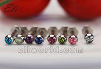 Wholesale Mix color G Labret Monroe Lip Ring Stainless Steel Bar Body Piercing Jewelry