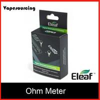 battery volt meter - Authentic eleaf Digital Ohmmeter Voltmeter tester volt ohm meter for e cigarette vision spinner battery arctic aspire atlantis mega