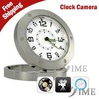 plastic table clock - 2015 new mini spy hidden digital table alarm video clock camera P HD with plastic bag support GB GB GB GB memory card