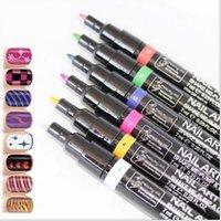 Cheap 1PCS! 16 colors for choice Design Pro Nail Art Pen Painting Paint Drawing Pen Nail Polish Tools Manicures