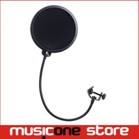 Wholesale Studio Microphone Mic Wind Screen Pop Filter Swivel Mount Mask Shied For Speaking Recording Black MU0592
