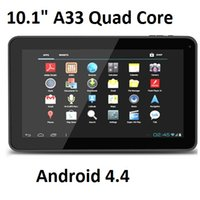 Wholesale 10 quot Inch Quad Core Allwinner A33 Android Kit Capacitive Touch Tablet PC GB RAM Bluetooth Wifi Dual Camera MID White Black