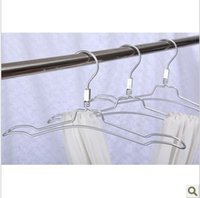 aluminum clad steel - 2014 Rushed Direct Selling White cm Hangers for Clothes Stainless Steel Aluminum Hanger Rack Silver
