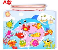 baby fish pictures - High quality New pictures to choose fishing toy children s wooden toys magnetic fishing toy baby