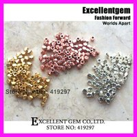 gold nugget - Free ship of Faceted Gold Rose Gold Silver Faceted solid Metal bead Hot sell Nugget Beads mm