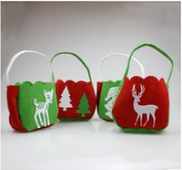 Wholesale 2014 colors Santa Claus hot selling wedding owl baskets Christmas trees bag festival gifts bags non woven DIY crafts TOPB526