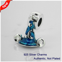 Wholesale Compatible with Pandora Bracelets Jewelry Sterling Silver Beads Mickey s Scrcerer s Hat Fashion Charms DIY makeing