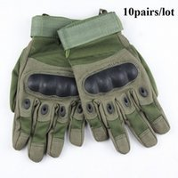Wholesale pairs Outdoor Sports Fingerless Military Tactical Airsoft Hunting Cycling Bike Gloves full Finger Gloves mittens luvas