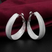 Wholesale Price New Trendy Fashion Jewelry Round Loop Sterling Silver Hoop Earrings For Women ZE391