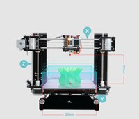 Wholesale Hot selling Reprap Stampante D Printer d Prusa i3 Full Acrylic Frame MK8 Extruder LCD2004 of
