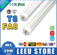 T8 45w SMD 2835 60 unit FA8 single pin T8 LED tube light lamp bulbs SMD2835 fluorescent 2400mm 2.4M 8ft 1.5m 5ft SMD2835 192leds 45W AC85-265V