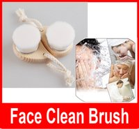 bamboo cleaning brush - Soft Facial Cleansing Brush Deep Pore Clean Bamboo Charcoal Fiber Face Care Brush Nature Massager Brush Hands Body Skin Care
