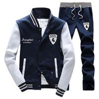 Wholesale men Fashion sportswear spring sport suit men clothes track suits tracksuits male sweatshirts men hoodies Plus Size wjj191