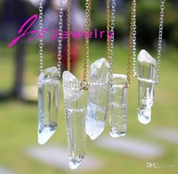 artilady - DIY hot Artilady Rose Amethyst quartz crystal pendants necklaces healing natural stone white crystal necklace women fine jewelry
