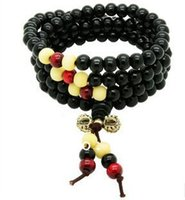 Wholesale Unisex Original Handmade mm Fine Red Sandalwood Beads Bracelet Multilayer Buddha Head