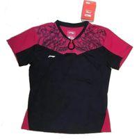 Wholesale New Li Ning Badminton Jersey Tshirt Men Women Tennis Clothes Table Tennis Shirts Short Sets