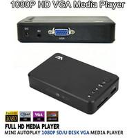 1080p mp4 player - Mini Full HD P USB External HDD VGA Media Player SD Support MKV H RMVB WMV AVI MP4 FLV Music Movie Aluminum Shell