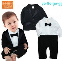 Wholesale Hot Sale Tuxedo Baby Rompers Long Sleeve Gentleman One Pieces Clothes Toddler Bodysuits Baby Overalls JL