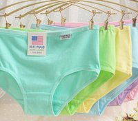 Wholesale Fashion casual dress lovely ladies cotton candy colored cotton girl week pants waist briefs thong sexy temptation