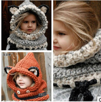 Wholesale 2015 New Children Hat Cartoon Knitted Hats Autumn Winter Warm Hat Children Warm Knitted Hats B18B5C