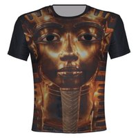 ancient egyptian fashion - 2015 New Casual Fashion Women Men Ancient Gold Egyptian Pharaoh Double Print Funny D T Shirts Sport Dry Quickly Galaxy Tops tee