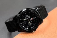 battery force - 2016 new design Swiss and Gemius brand watches weave quartz wristwatches fashion mens sports watch armed forces A0006